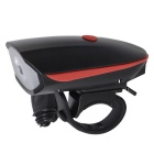 CARKING USB Cycling Electric Horn Bicycle Super Headlight - Red +Black