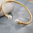 SILVERAGE Golden Pearl Inlaid Bracelet
