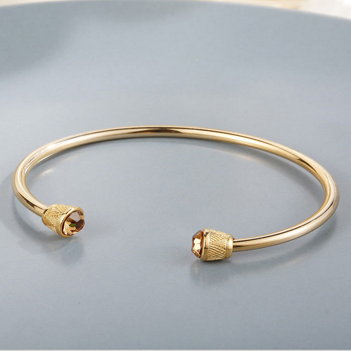 SILVERAGE Cupid Arrow Cubic Zirconia Adjustable Cuff Bracelet
