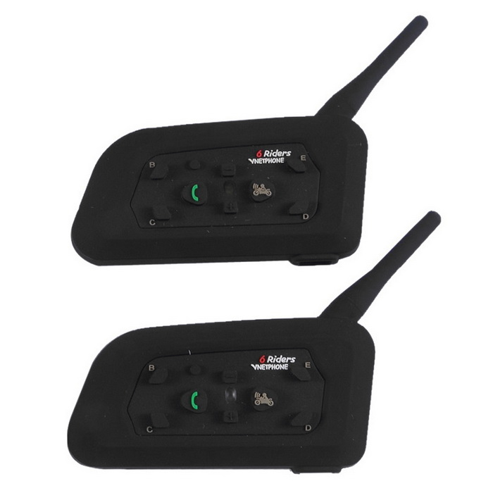 Non-radiational Smart Motorcycle Helmet Bluetooth Intercom Knight Full Duplex Radio 1 Pair