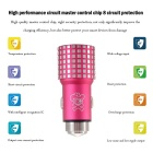 Hat-Prince E4 2-USB Car Charger / Metal Emergency Hammer - Dark Pink