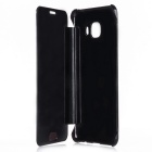 Mirror Cover Protective Flip Case for Samsung GALAXY C7 - Black