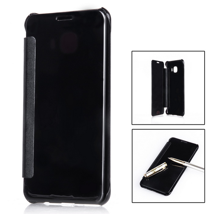 Mirror Cover Protective Flip Case for Samsung GALAXY C5 - BlackPlastic Cases<br>Form  ColorBlackModelN/AMaterialABS+PUQuantity1 DX.PCM.Model.AttributeModel.UnitShade Of ColorBlackCompatible ModelsGALAXY C5Packing List1 * Mirror case<br>