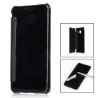 Mirror Cover Protective Flip Case for Samsung GALAXY C5 - Black