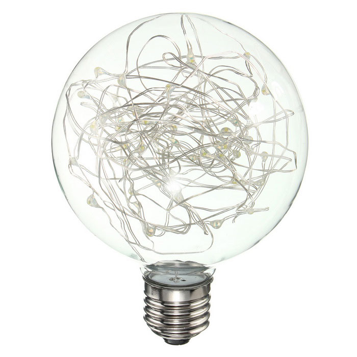 HESSION E27 Vintage Globe Edison Bulbs LED String Light Cold White - Free Shipping - DealExtreme