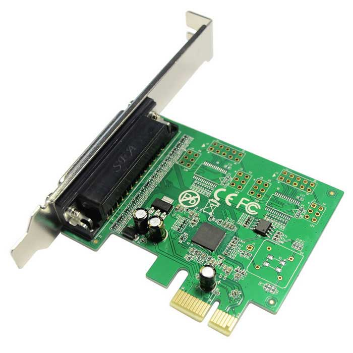 how to change pcie parallel port settings