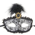 QooK Lady Venetian Masquerade Princess Plastic Feather Eye Mask