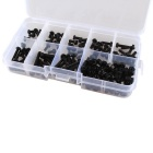 Hengjiaan 160pcs Metric M3 Black Nylon Screws and Nuts Assortment Set