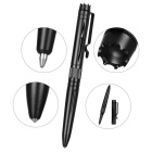 FURA Hollow Out Design Aluminum Alloy Ball-Point Pen w/ Clip - Black