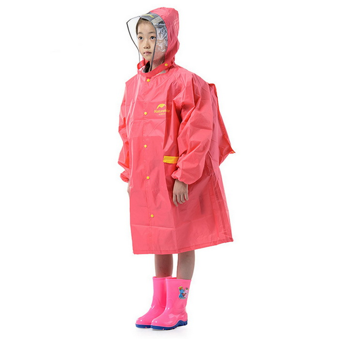 Naturehike Rainproof Plastic EVA Rain Coat for Children - Red (XL)