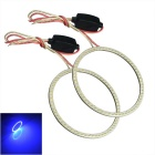 60mm 3.5W Blue COB Angel Eyes Car Lamps w/ Drive