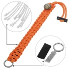 FURA Survival Emerency Bracelet w/ Fire Starter - Orange