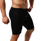 YUYANG Men's Swimming Trunks Exercising Shorts for Fitness - Black (M)