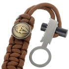 FURA Survival Emerency Bracelet w/ Fire Starter / Knife - Coyote Brown