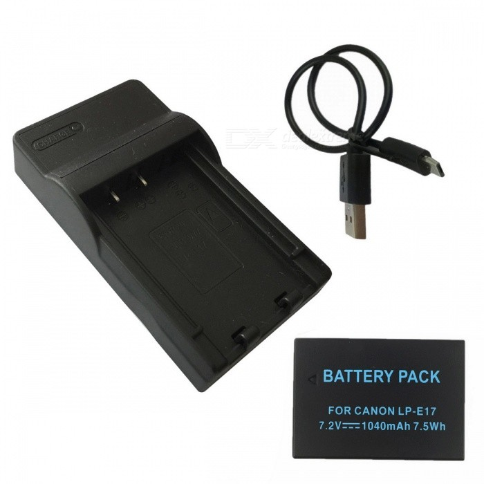 LPE17 1040mAh Battery + Micro USB Mobile Camera Battery Charger