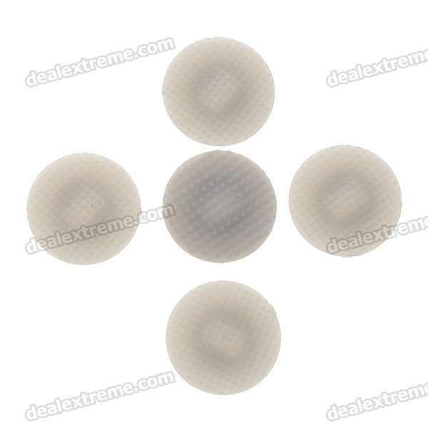 Repair Parts Replacement Analogue Stick Cover Cap for PSP 1000 - Grey (5-Pack)