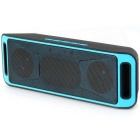 S816 Wireless Bluetooth Speaker w/ Hands-free / FM - Blue + Black