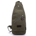 LOCAL LION 1321 Classic Fashion Canvas Chest Bag - Army Green (6.5L)