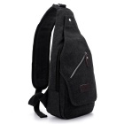 LOCAL LION 1321 Classic Fashion Canvas Chest Bag - Black (6.5L)