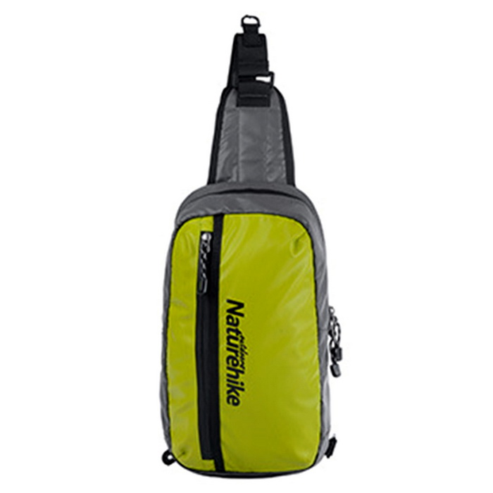 NatureHike Waterproof Single Shoulder Chest Bag - Green + Black (8L)