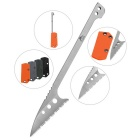FURA Stainless Steel Survival Scaling Knife with Tooth Edge - Silver