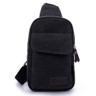 LOCAL LION 1319 Classic Fashion Canvas Chest Bag - Black (2.5L)