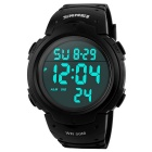 Digital Outdoor Sports Watch w/ Blue Backlight, Stopwatch, Chronograph