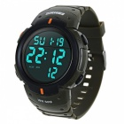 Skmei 1068 Waterproof Men Digital LED Sports Wrist Watch - Army Green