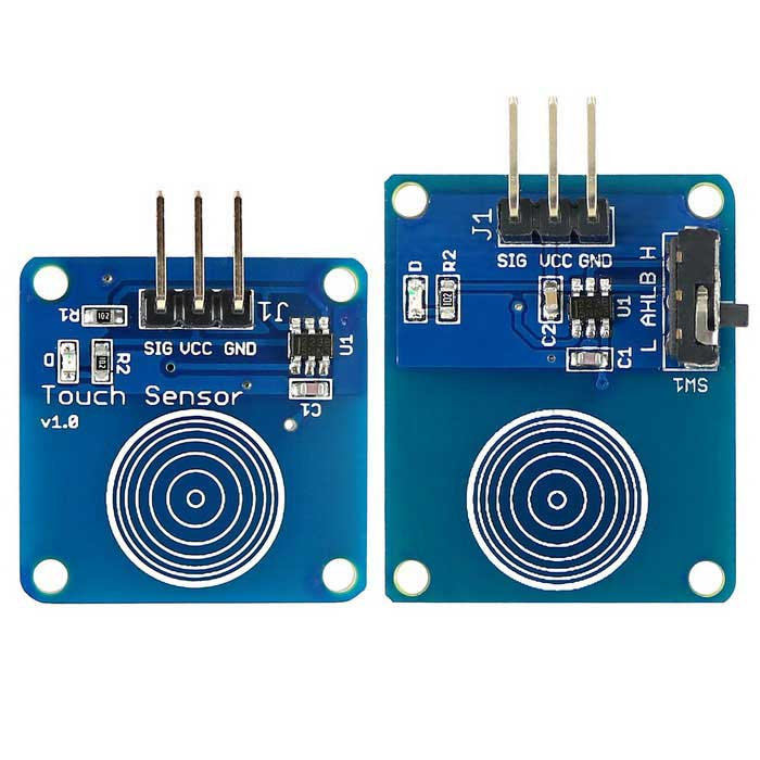 Touch Sensor Module Kit w/ Direct and Toggle Mode for ArduinoSensors<br>Form ColorBlue + BlackModelN/AQuantity1 DX.PCM.Model.AttributeModel.UnitMaterialPCB + alloy + plasticApplicationCapacitive touch switch moduleWorking Voltage   DC 2~5.2 DX.PCM.Model.AttributeModel.UnitEnglish Manual / SpecYesDownload Link   http://drive.google.com/drive/folders/0B6uNNXJ2z4CxTDB6Nzd3dk1tZXc?usp=sharingOther FeaturesA product for Arduino that works with official Arduino boards.Packing List1 * Touch Sensor1 * Touch Sensor (T)<br>