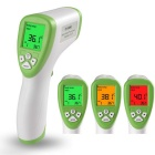 Human Body Non-Contact Infrared Thermometer - White + Green