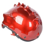 Carking doble uso novedad retro casco de moto media cara casco - roja