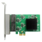 IOCREST PCIe to Four Gigabit Card IO-PCE8111-4GLA