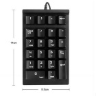 Financial Business Accounting Professional Digital Keyboard - Black
