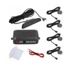 "0.6"" Wired 4 Parking Sensors Car Reversing Radar System - Gray"