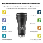 Hat-Prince 2-USB Car Charger / Metal Emergency Hammer - Black