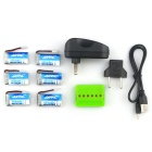 X6A-A13 Batteries + 1-to-6 Charger + TOL Adapter + Charger +Data Cable