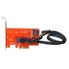 PCI-E 3.0 x4 Lane Host Adapter M.2 NGFF M Key SSD to U.2 U2 Kit w/ SFF-8639 U.2 Cable