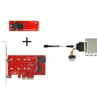 CY PCI-E 3.0 x4 Lane Host Adapter M.2 NGFF M Key SSD to U.2 U2 Kit