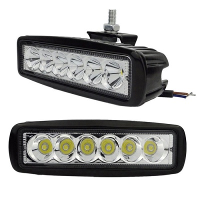 exLED 18W LED Car Work Light Cold White 6500K 1800lm (2PCS)