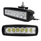 Waterproof 18W LED Car Work Light Cold White Off-road Lights Assist Lamps (12~30V)