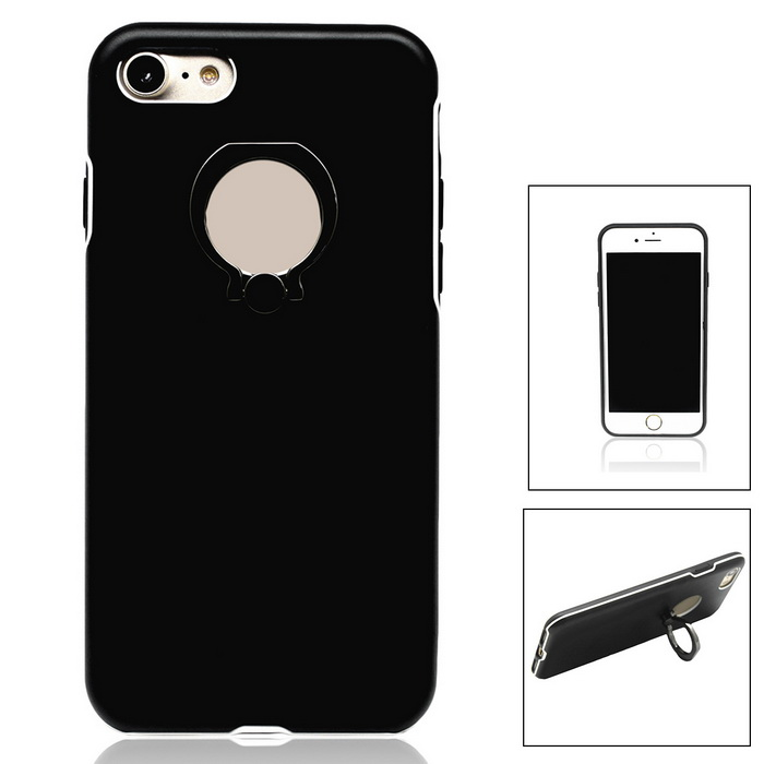 Aluminium Alloy Back Case w/ Holder Ring for IPHONE 7 - BlackMetal Cases<br>Form  ColorBlackQuantity1 DX.PCM.Model.AttributeModel.UnitMaterialAluminium alloyCompatible ModelsiPhone 7StyleBack CasesPacking List1 * Case<br>