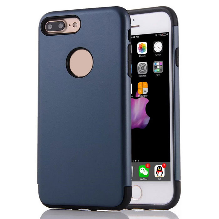 Protective PC + TPU Back Case Cover for IPHONE 7 Plus 5.5 - Navy Blue