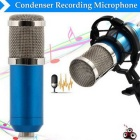 Condenser Sound Recording Microphone with Shock Mount - Blue