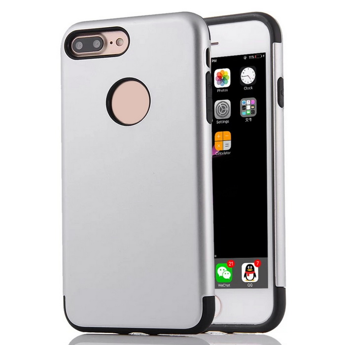 "Protective PC + TPU Back Case Cover for IPHONE 7 Plus 5.5"" - Silver"