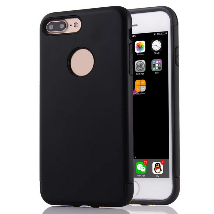 "Protective PC + TPU Back Case Cover for IPHONE 7 Plus 5.5"" - Black"