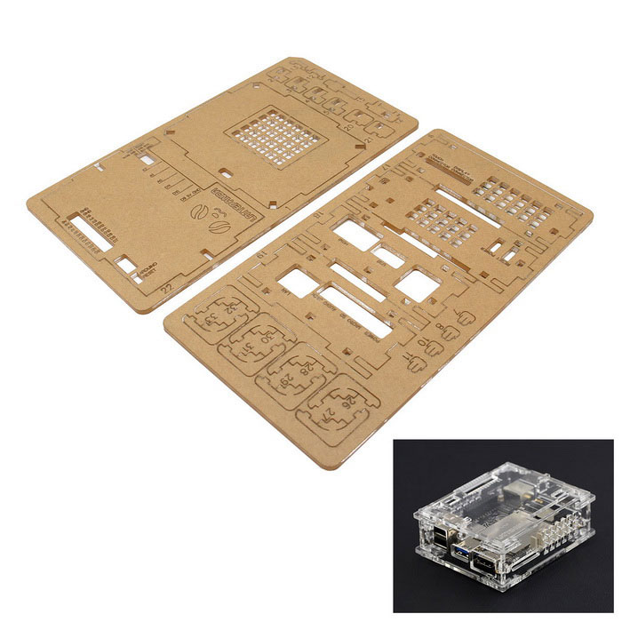 Acrylic Case for LattePanda Win10 Mini PC - Transparent