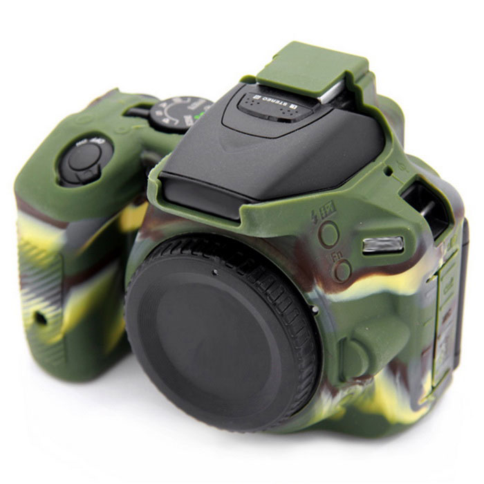 Korea Style Silicone Camera Case for Nikon D5500 DSLR Camera - Green