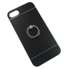 360 Degree Rotation Finger Ring Stand Cover for IPHONE 7 - Black
