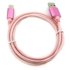 USB 3.1 Type-C to USB 2.0 Data Cable Braided Nylon Cable - Pink(102CM)