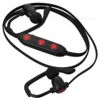 X20 Stereo Bluetooth V4.1 Earhook Earphone - Black